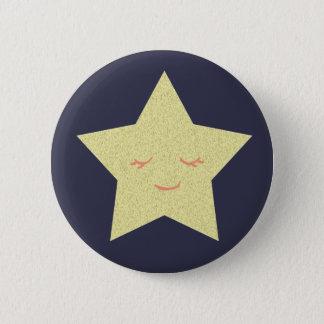 Glücklicher Stern Runder Button 5,7 Cm