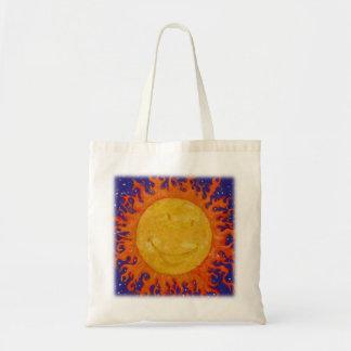 Glücklicher Sun Budget Stoffbeutel