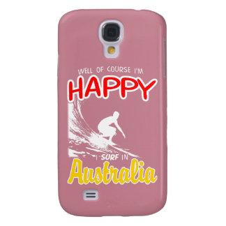 Glücklicher Surfer AUSTRALIEN (weiß) Galaxy S4 Hülle