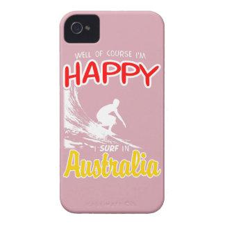 Glücklicher Surfer AUSTRALIEN (weiß) iPhone 4 Cover