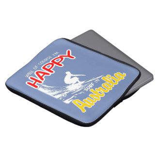 Glücklicher Surfer AUSTRALIEN (weiß) Laptop Sleeve