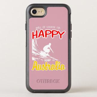 Glücklicher Surfer AUSTRALIEN (weiß) OtterBox Symmetry iPhone 8/7 Hülle