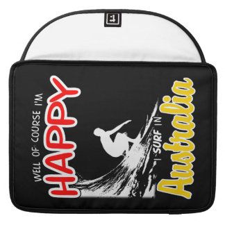 Glücklicher Surfer AUSTRALIEN (weiß) Sleeve Für MacBooks