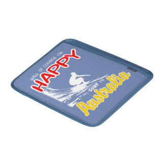 Glücklicher Surfer AUSTRALIEN (weiß) Sleeve Fürs MacBook Air