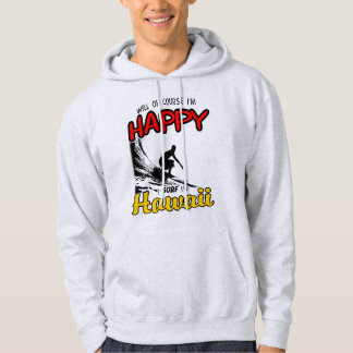 Glücklicher Surfer HAWAII (Schwarzes) Hoodie