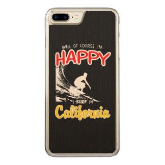 Glücklicher Surfer KALIFORNIEN (weiß) Carved iPhone 8 Plus/7 Plus Hülle