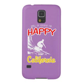 Glücklicher Surfer KALIFORNIEN (weiß) Galaxy S5 Cover