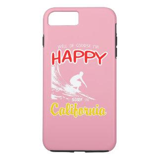 Glücklicher Surfer KALIFORNIEN (weiß) iPhone 8 Plus/7 Plus Hülle