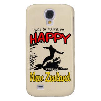 Glücklicher Surfer NEUSEELAND (Schwarzes) Galaxy S4 Hülle