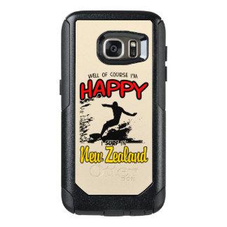 Glücklicher Surfer NEUSEELAND (Schwarzes) OtterBox Samsung Galaxy S7 Hülle