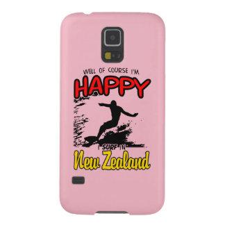 Glücklicher Surfer NEUSEELAND (Schwarzes) Samsung Galaxy S5 Hülle