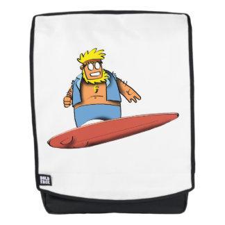 Glücklicher Surfer Rucksack
