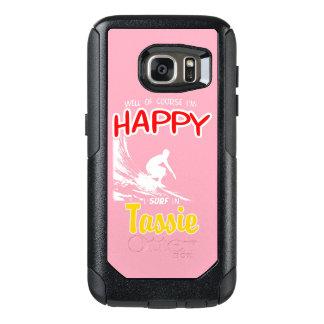Glücklicher Surfer TASSIE (weiß) OtterBox Samsung Galaxy S7 Hülle