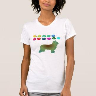Glücklicher T - Shirt Ostern Briard