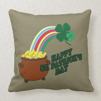 Glücklicher Tag 1 St Patrick s Kissen