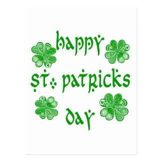 Glücklicher Tag /1 St. Patricks Postkarte