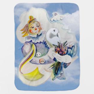 Glücklicher Tag in den Wolken Kinderwagendecke