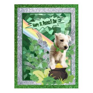 Glücklicher Tag St. Patricks der Westie Postkarte