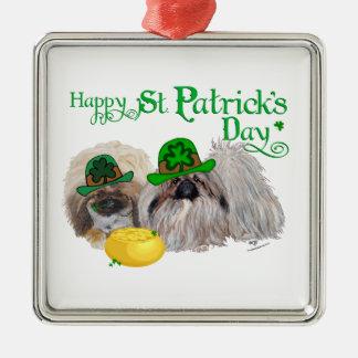 Glücklicher Tag St. Patricks Silbernes Ornament
