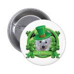 Glücklicher Tag Westie St. Patricks Buttons