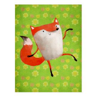 Glücklicher tanzender Fox Postkarten
