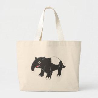 Glücklicher Tapir-Cartoon Jumbo Stoffbeutel