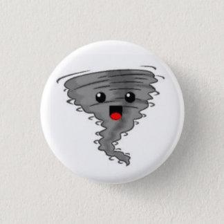 Glücklicher Tornado Runder Button 2,5 Cm