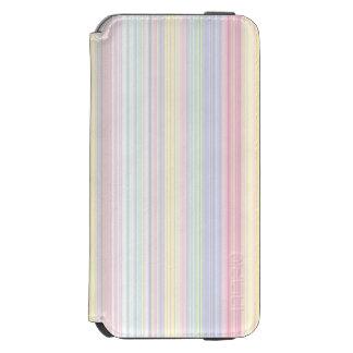 Glücklicher Traum - eleganter bunter Streifen Incipio Watson™ iPhone 6 Geldbörsen Hülle