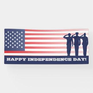 Glücklicher Unabhängigkeitstag miliatary Banner