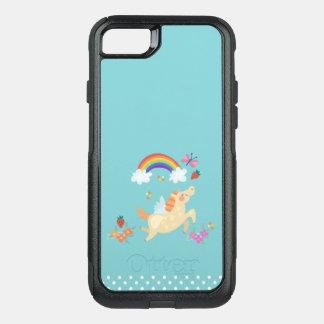 Glücklicher Unicorn mit Regenbogen-Wolken und