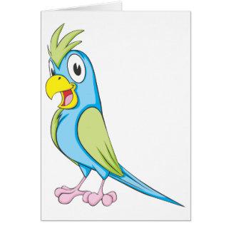 Glücklicher Unterhaltungs-Papagei Karte