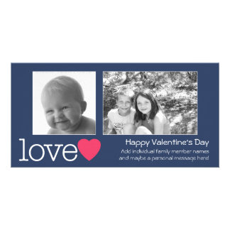 Glücklicher Valentinstag - 2 Fotos - horizontal Bildkarte