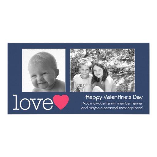 Glücklicher Valentinstag - 2 Fotos - horizontal Fotogrußkarten