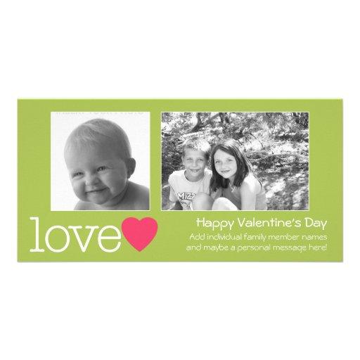 Glücklicher Valentinstag - 2 Fotos - horizontal Individuelle Photo Karte