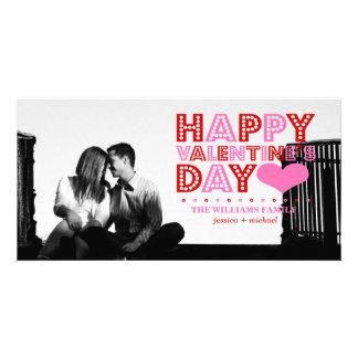 Glücklicher Valentinstag Bildkarte