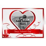 Glücklicher Valentinstag! Foto-Schablone Grußkarte