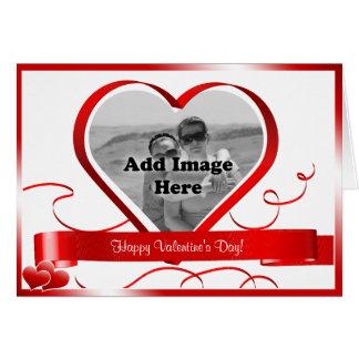 Glücklicher Valentinstag! Foto-Schablone Karte