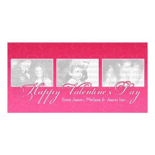 Glücklicher Valentinstag Foto Karten Vorlage