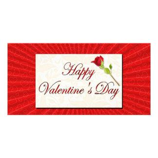 Glücklicher Valentinstag Fotokarten