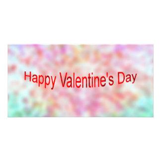 Glücklicher Valentinstag Foto Karten