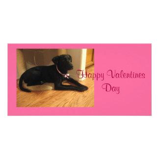 Glücklicher Valentinstag Individuelle Foto Karten