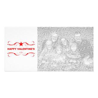 glücklicher Valentinstag Fotokartenvorlagen