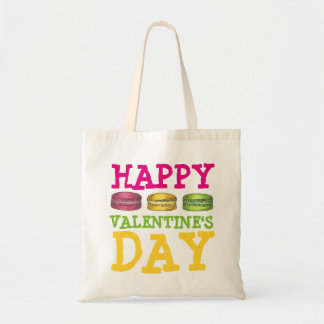 Glücklicher Valentinstag-französisches Bäckerei Tragetasche