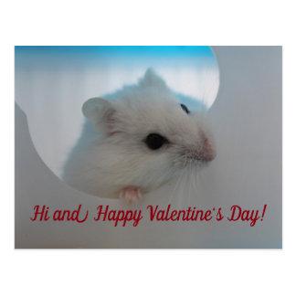 Glücklicher Valentinstag-Hamster Postkarte