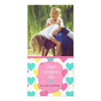 Glücklicher Valentinstag-kundenspezifische Karte Photokartenvorlage