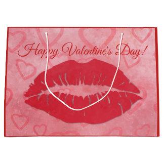 Glücklicher Valentinstag-Kuss Große Geschenktüte