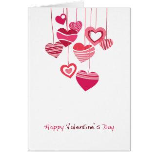 Glücklicher Valentinstag Mitteilungskarte