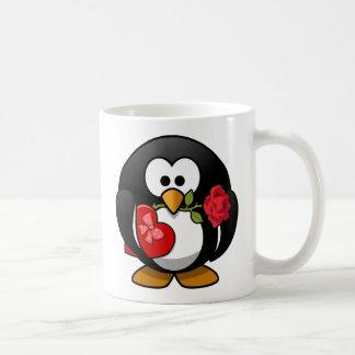 Glücklicher Valentinstag-Pinguin Tee Tasse
