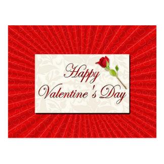 Glücklicher Valentinstag Postkarte