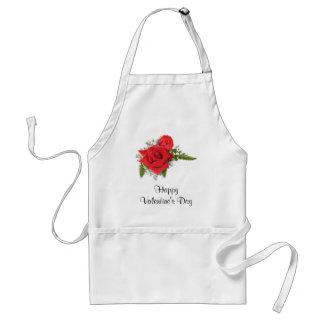 Glücklicher Valentinstag-romantische Rote Rosen Schürze